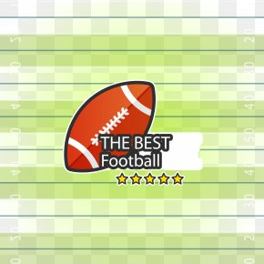 Vector Ball And American Football Field - Logo Brand Area Font PNG