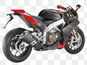 Black Aprilia RSV4 Motorcycle Bike - Aprilia RSV4 Motorcycle FIM Superbike World Championship Sport Bike PNG