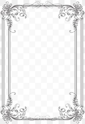 Vintage Border - Borders And Frames Wedding Invitation Picture Frames Microsoft Word Clip Art PNG