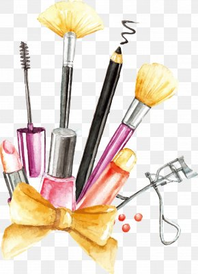 Vector Painting Makeup Tools - Cosmetics Makeup Brush PNG