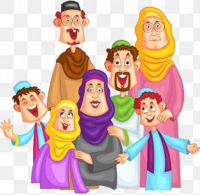 Family - Muslim Family Islam Clip Art PNG