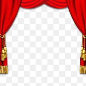 Chinese New Year Red Curtain Texture Border - Theater Drapes And Stage Curtains Chinese New Year Window PNG