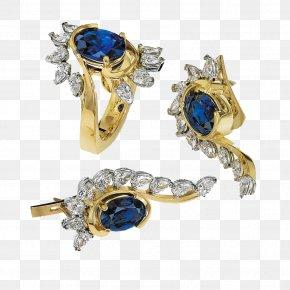 Blue Gemstone Ring - Jewellery Ring Model Gold Gemstone PNG