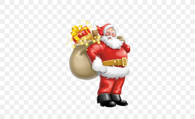 Santa Claus Christmas Tree Clip Art, PNG, 500x500px, Santa Claus, Christmas, Christmas Decoration, Christmas Ornament, Fictional Character Download Free