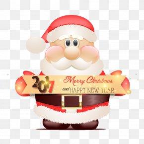 2017 Santa HD Free Buckle Material - Santa Claus Christmas New Years Day PNG
