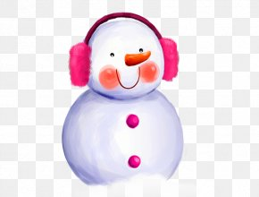 Red Face Snowman - Dream Snow Winter Car Snowflake PNG