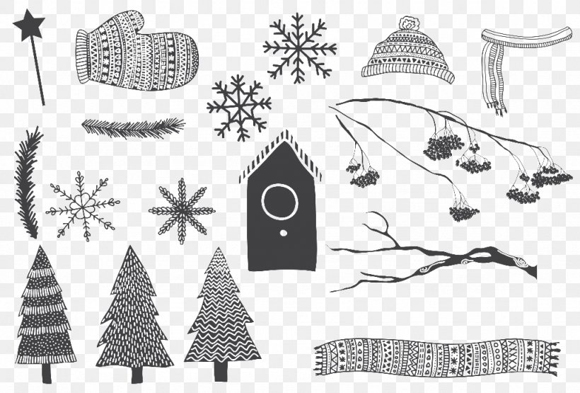 Christmas Day Drawing Image Vector Graphics Illustration, PNG, 1024x694px, Christmas Day, Art, Black, Black And White, Branch Download Free