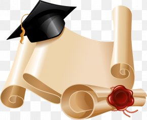 Antique Parchment Material - Graduation Ceremony Diploma Square Academic Cap Stock Photography PNG
