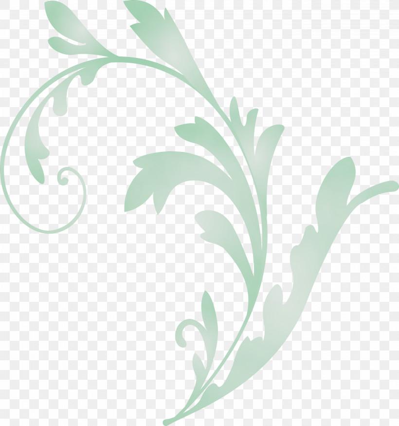 Leaf Green Plant Flower Pedicel, PNG, 2809x3000px, Flower Frame, Decoration Frame, Floral Frame, Flower, Green Download Free