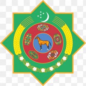 Badges - Emblem Of Turkmenistan Flag Of Turkmenistan National Symbol Turkmen Soviet Socialist Republic PNG