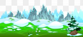 Early Spring With Icy Mountains Ground Clipart - Spring Clip Art PNG
