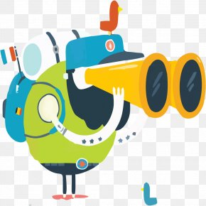 Little Man With A Telescope Travel - Telescope Gratis Computer File PNG
