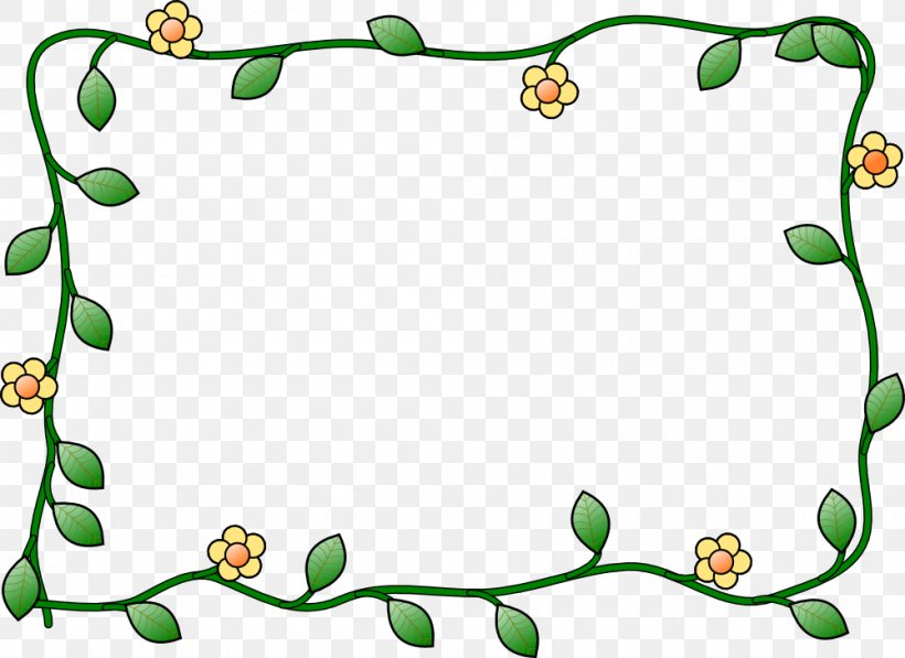 Borders And Frames Picture Frame Free Content Clip Art, PNG, 1000x729px, Borders And Frames, Area, Drawing, Flower, Flowering Plant Download Free