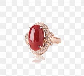 Gemstone Rings - Red Coral Ring Gemstone Jewellery PNG