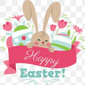 Easter Party - Easter Bunny Treasure Hunt Clip Art PNG