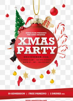 Christmas Party - Christmas Poster Flyer Party Template PNG