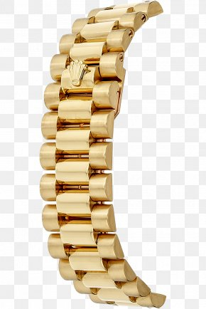 Rolex - Colored Gold Jewellery Rolex Day-Date Watch Strap PNG