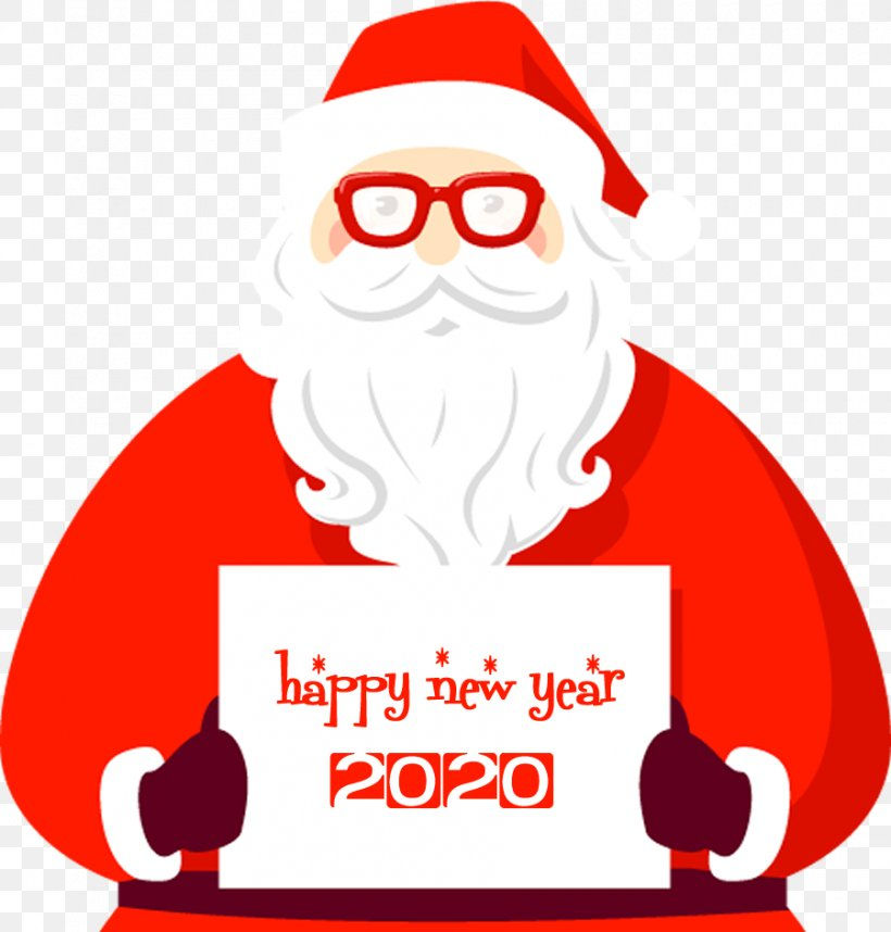 Happy New Year 2020 Santa, PNG, 900x942px, 2020, Happy New Year, Christmas, Christmas Eve, Facial Hair Download Free