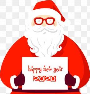 Christmas Christmas Eve - Happy New Year 2020 Santa PNG