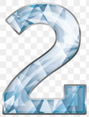Crystal Number Two Clipart Image - Number Clip Art PNG