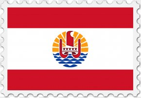 French Horn - Tahiti Flag Of French Polynesia Society Islands Marquesas Islands National Flag PNG