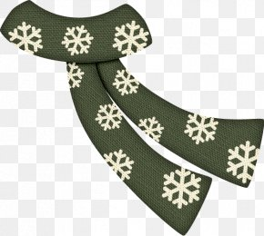 Green Snowflake Print Scarf - Snowflake Green Scarf PNG