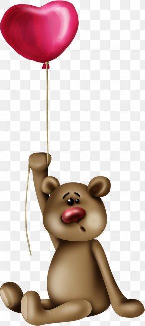 Pretty Cartoon Balloon Brown Bear - Brown Bear Drawing PNG