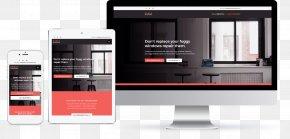 Foggy Glass - Digital Marketing Responsive Web Design Landing Page PNG
