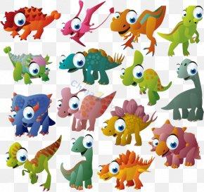 A Large Collection Of Dinosaur - Tyrannosaurus Stegosaurus Diplodocus Triceratops Dinosaur PNG
