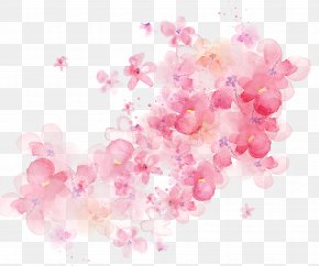 Watercolor Flowers Shading - Flower Watercolor Painting PNG