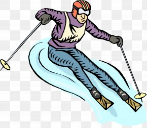 Winter Sport Telemark Skiing - Winter Background PNG