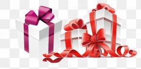 Holiday Gift Vector Material - Gift Card Box Christmas PNG