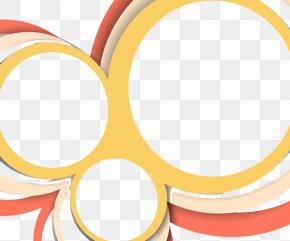Abstract Yellow Pink Circle Diagram - Yellow Circle Clip Art PNG