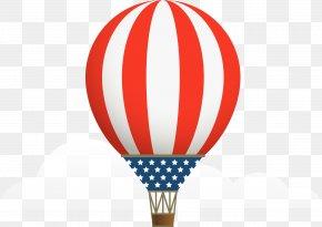 Red Simple Hot Air Balloon - Hot Air Balloon Clip Art PNG