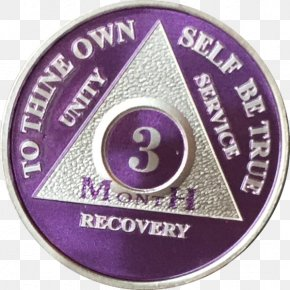 Silver - Alcoholics Anonymous Plating Sobriety Silver Red PNG