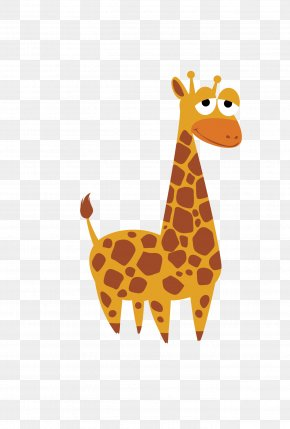 Orange Giraffe - Crocodile Wildlife Cartoon Animal PNG