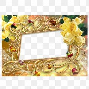 Gold Frame - Picture Frame Digital Photo Frame Download PNG