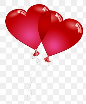Red Valentine Heart Baloons PNG Clipart Picture - Valentine's Day Balloon Heart Clip Art PNG