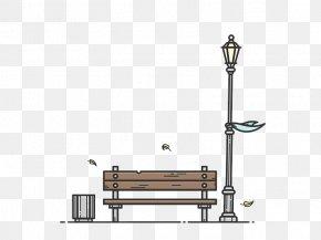 Park Bench Illustration Material - Bench Chair Park Illustration PNG