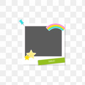 Star Rainbow Cartoon Frame - Cartoon PNG