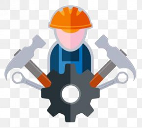 Builder And Icon Sign 01 - Construction Worker Architectural Engineering Hammer PNG