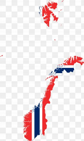 Map - Flag Of Norway Map PNG