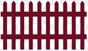 Fence - Picket Fence Gate House Garden PNG