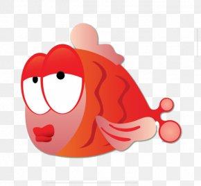Red Big Fish - Fish Drawing PNG