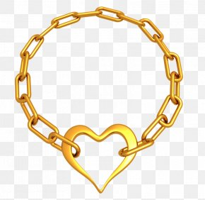 Gold Chain Of Hearts PNG