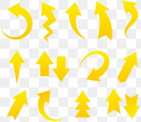 Yellow Arrows Different Directions Form - Arrow Euclidean Vector Computer File PNG