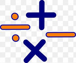 Cartoon Math Symbols - Mathematics Multiplication Algebra Clip Art PNG