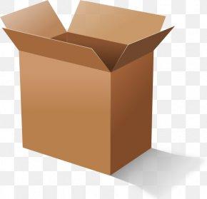 Open Box - Cardboard Box Clip Art PNG