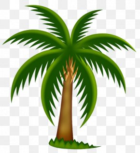 Painted Palm Tree Clipart - Palm Trees Date Palm Clip Art PNG