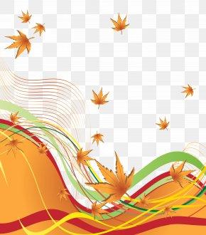 Autumn Decorative Border Clipart Image - Autumn Clip Art PNG